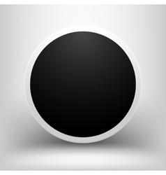 Black empty sphere with shadow vector