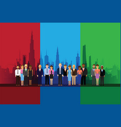 Business people on a cityscape vector