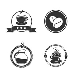 coffee emblem vector image