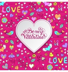 Colorful Valentines card vector image vector image