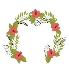 Crown flower decoration vector