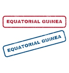 Equatorial guinea rubber stamps vector
