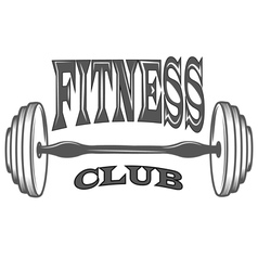 fitness club sport logo and pictures vector image vector image