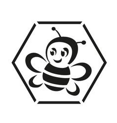 Honeybee logo vector image vector image