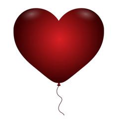 isolated hearth balloon vector image