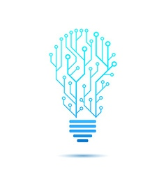 Lamp formed by chip connectors vector image