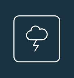 lightning outline symbol premium quality isolated vector image vector image