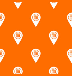 map pin pattern seamless vector image vector image