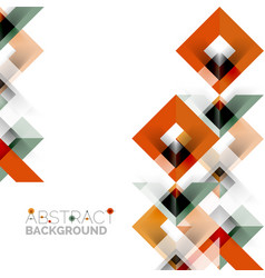 modern square geometric pattern design on white vector image