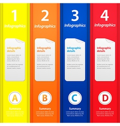Multicolor folders infographic vector image vector image
