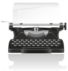 old typewriter 02 vector image vector image