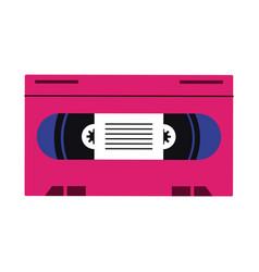 Old vhs media pop art colors vector