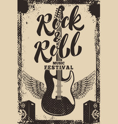 Rock and roll music festival poster template vector