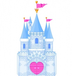 Romantic castle vector