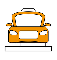 Taxi frontview icon image vector