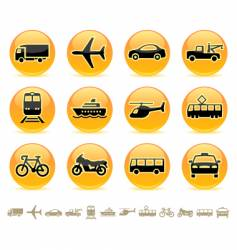 transport icons buttons vector image