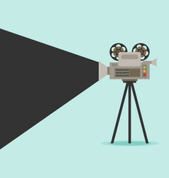 video camera flat design vector image vector image