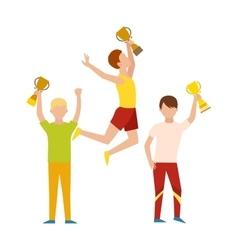 Winning runner winners success sport flat vector