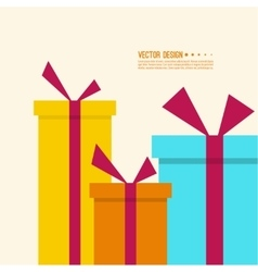 Surprise and bright holiday gift vector