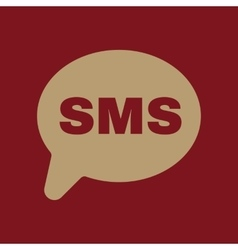 The sms icon text message symbol flat vector