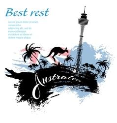 Travel Australia design in grunge style vector image