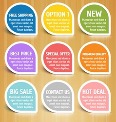 Labels design elements set vector