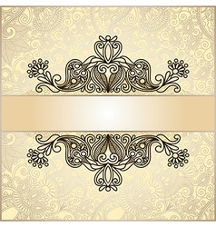 ornate floral vintage template vector image