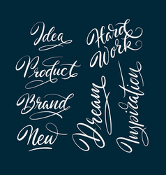 New and idea hand written typography vector