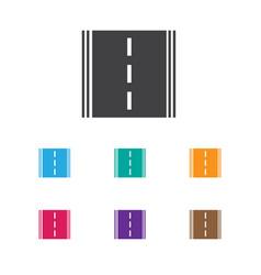 of car symbol on road icon vector image