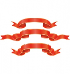 set of red ribbons illustration vector image