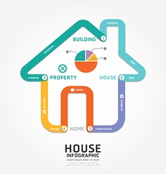 Infographics building house design diagram line vector