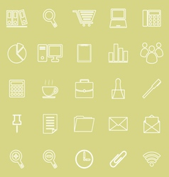 Office line icon on yellow background vector