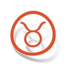 Taurus sign sticker orange vector