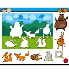 Kindergarten cartoon game vector