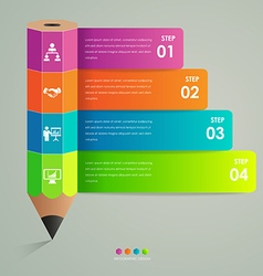 Business infographic template pencil concept vector image