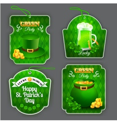 Green party labels set vector