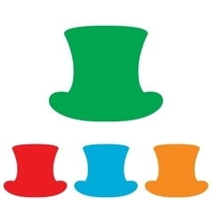 Top hat sign colorfull set vector