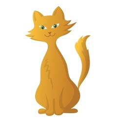 Red cartoon cat vector
