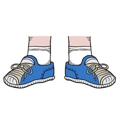 Blue shoes vector