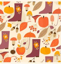 Abstract autumn seamless pattern vector