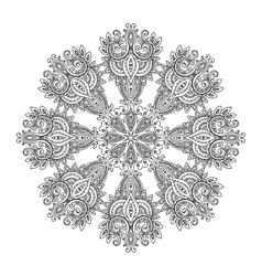 Abstract round lace design mandala vector