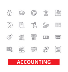 accounting business accountant finance vector image