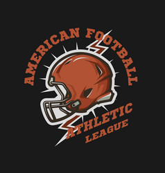 American football helmet emblem vector