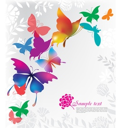 background with colorful butterflies vector image vector image