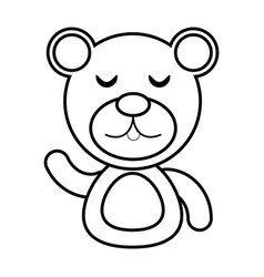 Bear animal toy outline vector
