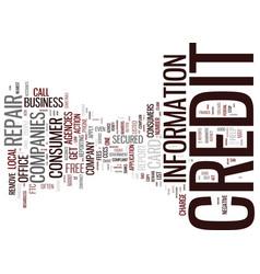 Beware of bogus credit repair companies text vector
