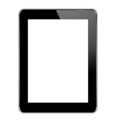 black computer tablet vector image