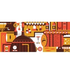 Brewery design flat vector image