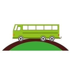 Bus transport service icon vector
