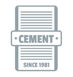 Cement logo gray monochrome style vector